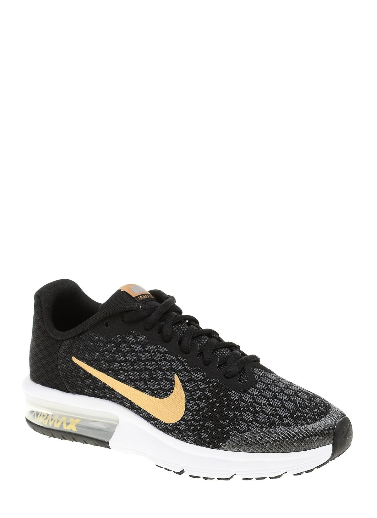 huge discount 2e2c2 9f07b Nike Erkek Çocuk Air Max Sequent 2 Black/Metallıc Gold-Anthracıte ...